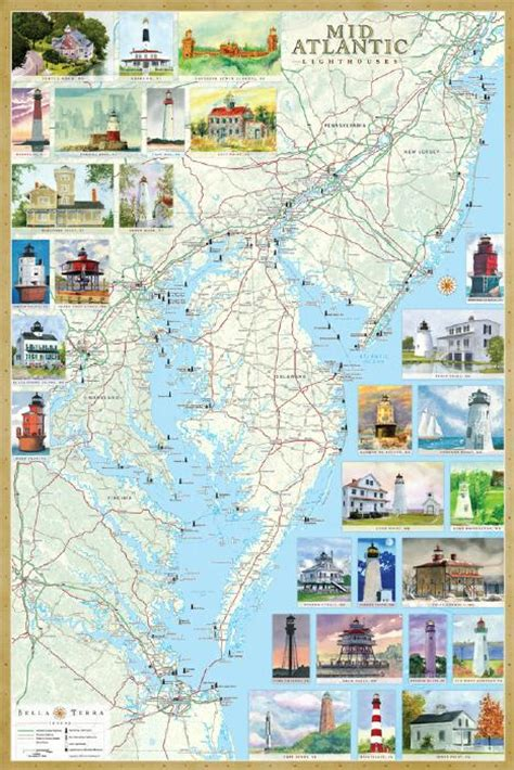 map of maryland lighthouses lighthouses of mid atlantic map