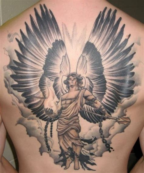 warrior angel tattoo 54 tattoos on back