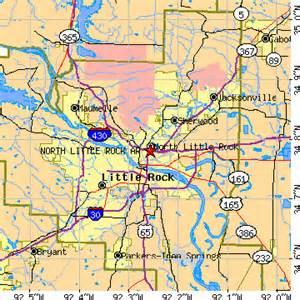 Little Rock Zip Code Map by North Little Rock Arkansas Ar Population Data Races