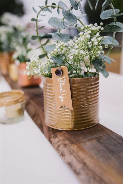 17 best ideas about tin can centerpieces on