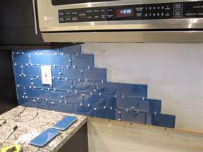 how to install a glass tile backsplash armchair builder kitchen update add a glass tile backsplash hgtv