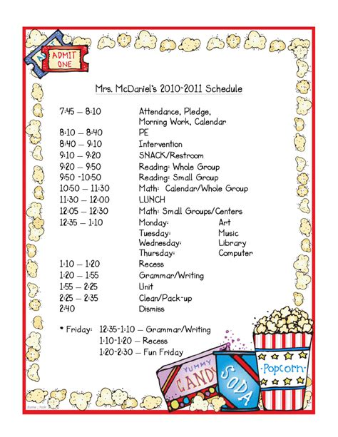 Mrs Mcdaniel S 2nd Grade Daily Schedule Linky Party Second Grade Schedule Template