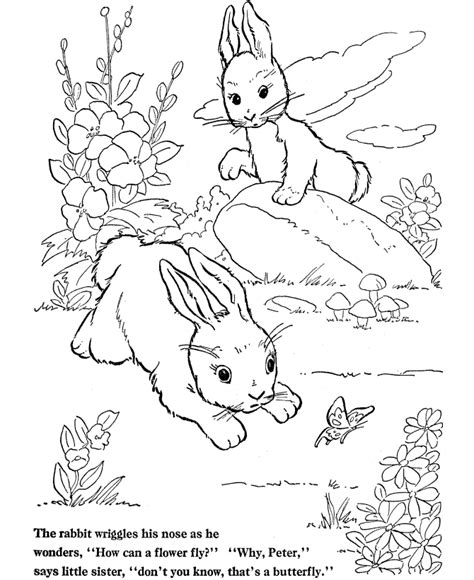 Free Coloring Pages Of Rabbit Rabbit Coloring Pages