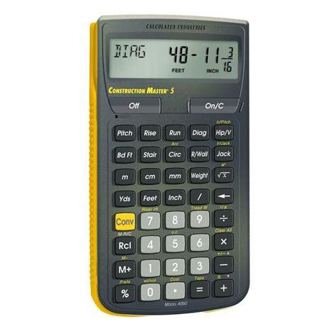 calculator y calculated industries construction master 5 calculator