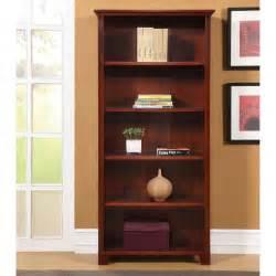 bookshelves cherry wood ameriwood 5 shelf wood bookcase cherry at hayneedle