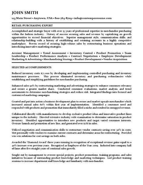 cover letter for buyer resume