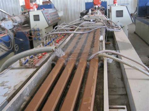 wood plastic composite profile extrusion line wpc 00