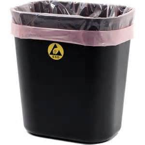 Esd Chair Botron B17157 Small Esd Safe Conductive Plastic Trash Can