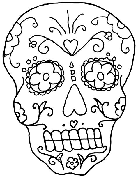 coloring pages of skulls for day of the dead day of the dead skull coloring pages coloringsuite com