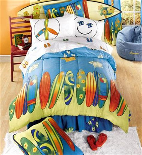 Boys Surf Bedding Surf S Up 8pc Reversible Bed In A Surfer Bedding