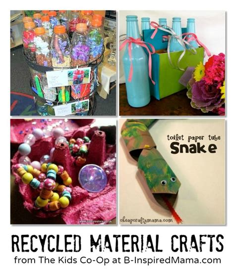 crafts from recycled materials for crafts with recyclable materials