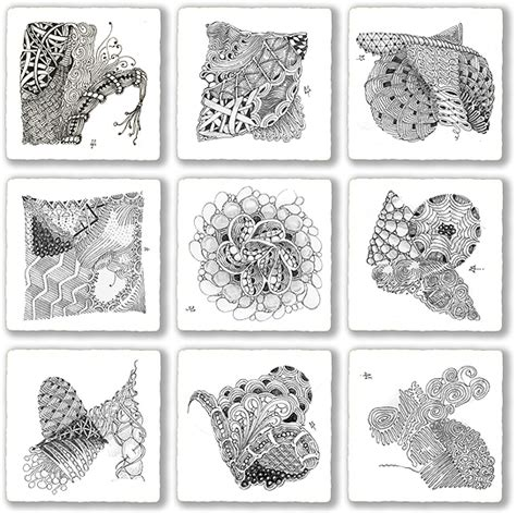 Brain Pattern Drawing | zentangle pattern drawing as meditation brain pickings