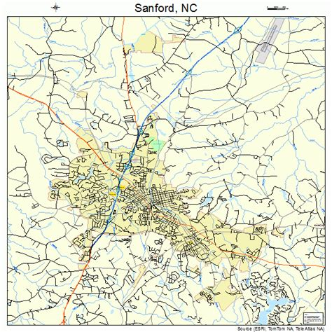 map of sanford carolina sanford carolina map 3759280
