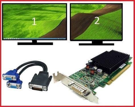 Vga Card Dual Monitor dell optiplex gx620 gx280 sff low profile dual vga monitors card pci e x16 ebay