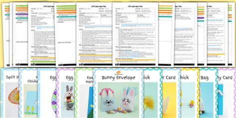 card template eyfs eyfs easter craft activities with accompanying planning pack