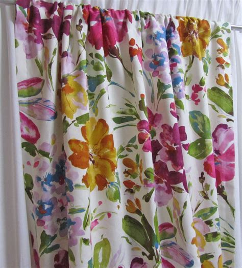 floral print drapes abstract floral curtain panels watercolor print drapes linen