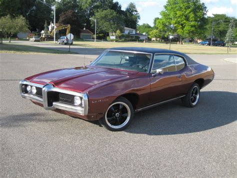 1969 pontiac lemans red vinyl top v8 engine th350 automatic trans for sale in livonia