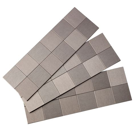 stainless steel backsplash lowes shop aspect metal 4 in x 6 in stainless metal backsplash