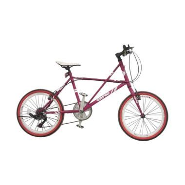 Sepeda Mini 608 Ungu 20 Inch jual viva cycle l2110 viva hi ten mini racing shimano