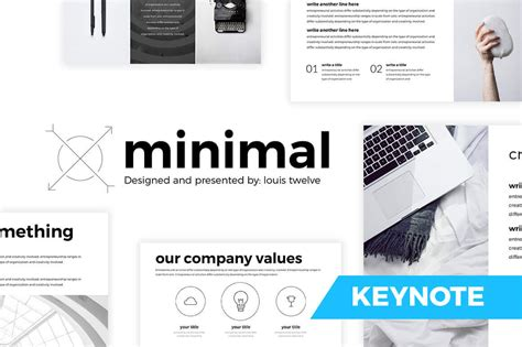 Free Minimal Keynote Template Created By Louistwelve Free Minimal Keynote Template