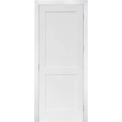 Lpd Doors Shaker Single Panel Interior Door Reviews Krosswood Doors 18 In X 96 In Craftsman Shaker Primed Mdf 2 Panel Right Single Prehung