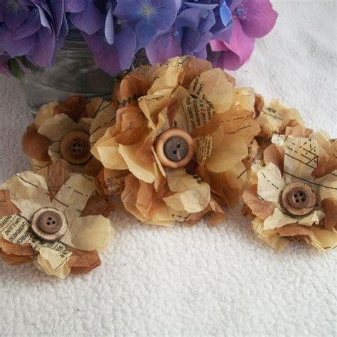 Sewing Pattern Paper Flowers | recycling paper and sewing pattern paper flower tutorial