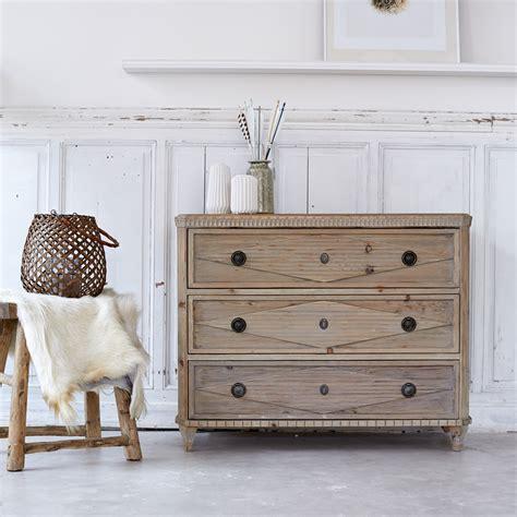 tikamoon emily pine chest of 3 drawers