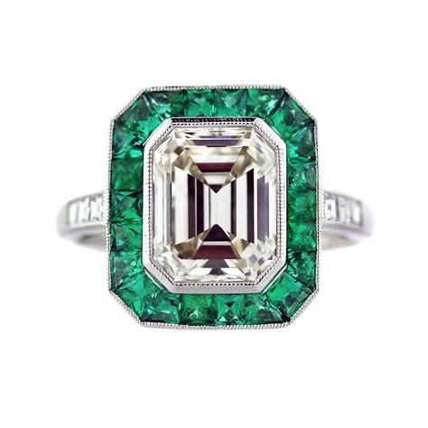 2 50 ct emerald cut and emerald platinum