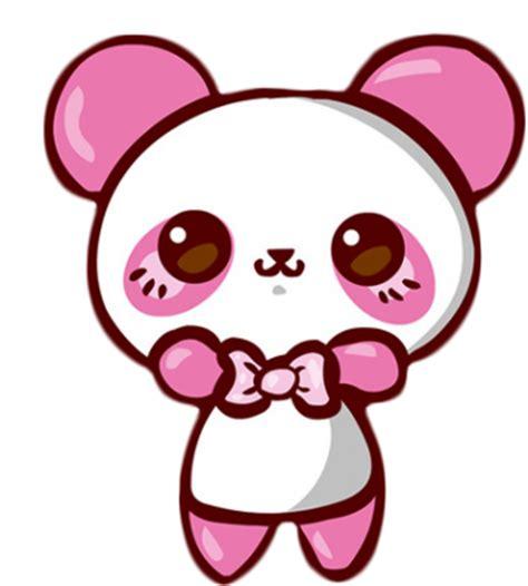 Panda Pink kawaii panda on