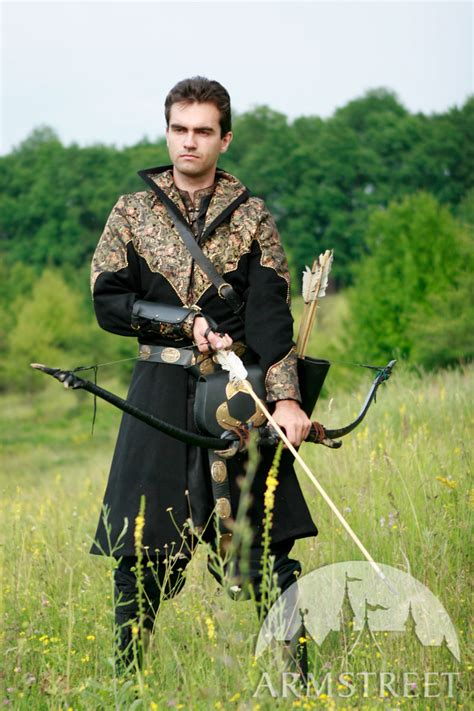 Medieval clothing   exclusive fantasy prince overcoat garb for sale. Available in: red wool