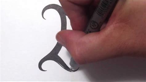 how to draw a simple tribal letter i youtube