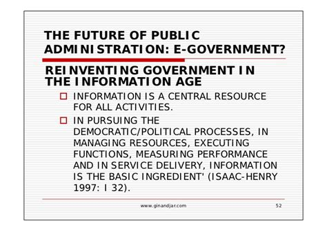 Information Age Essay by Current Issues In Administration