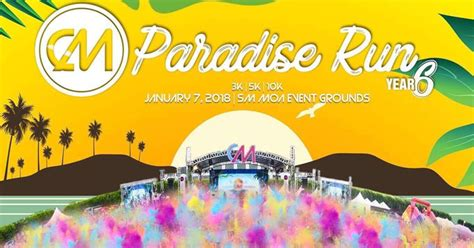 color manila color manila paradise run 2018 in sm mall of asia
