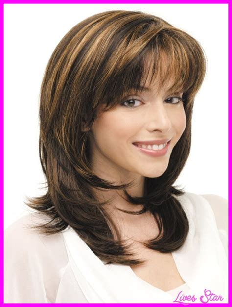 Layered Medium Hairstyles For 60 by Hairstyles For 60 Medium Length