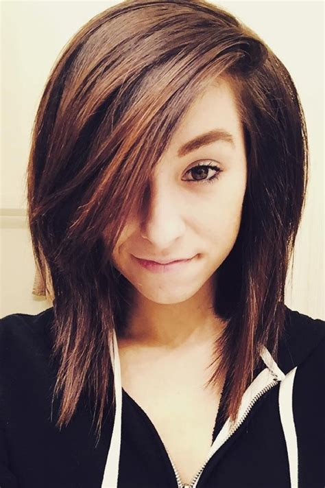 Christina Grimmie Hairstyle Pictures | christina grimmie straight dark brown angled hairstyle