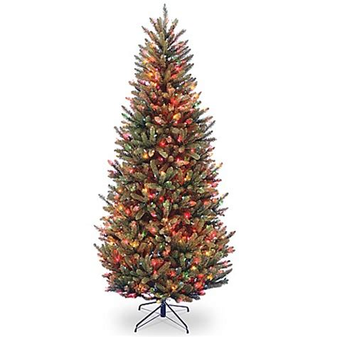 7 5 pre lit natural frasier fir artificial christmas tree national tree company 7 5 foot natural fraser pre lit slim