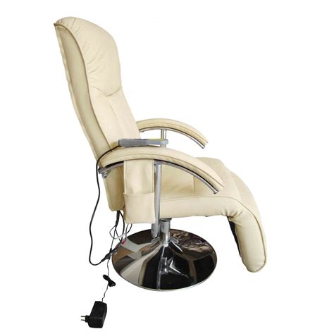 electric massage recliner chair electric tv recliner massage chair creme white www