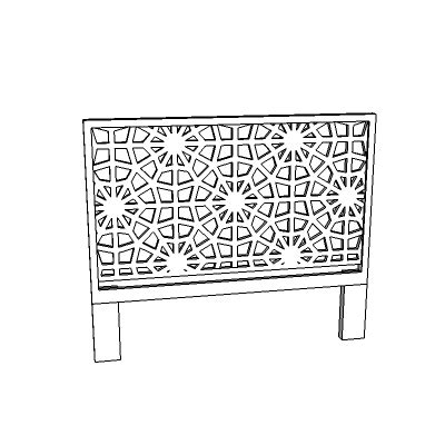 west elm morocco headboard west elm morocco headboard 3d model formfonts 3d models