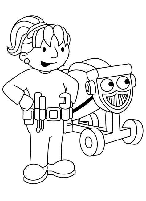 coloring page bob the builder coloring pages 68