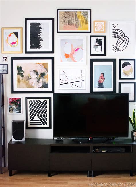 how to gallery wall how to plan and hang a gallery wall homey oh my