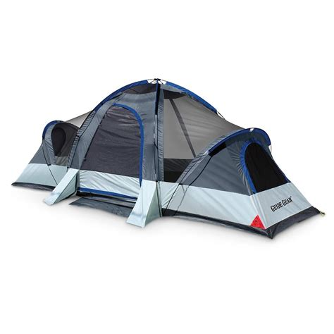 Three Room Tent by Guide Gear 174 Elkhorn 18x10 3 Room Dome Tent Blue Gray
