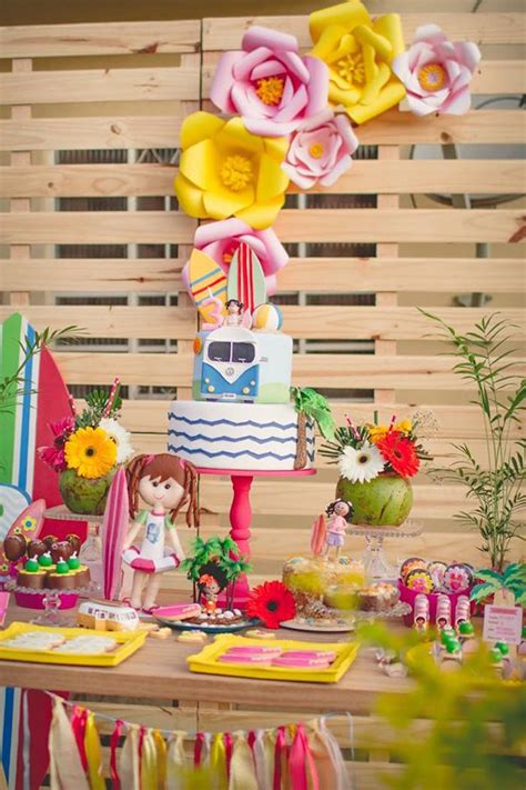 Kara S Ideas Hawaiian Luau Kara S Ideas Tropical Surf Themed Birthday