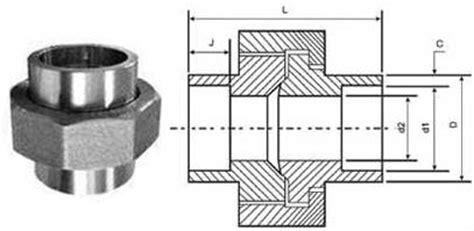 Water Mur 1 14 Union Socket 1 14 Sova Tebal Forged Socket Weld Union Dynamic Forge Fittings