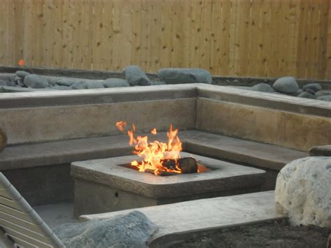 diy concrete gas pit fireplace design ideas