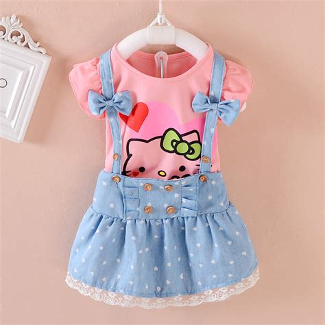 Fashion Dress Hello My Lovely 2pcs dress summer 2017 clothes dresses hello lovely princess