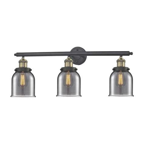 bell and howard light bar shop innovations lighting 3 light 11 in brushed black