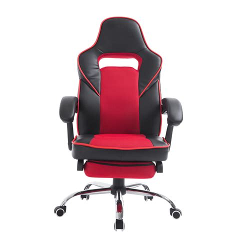 homcom race car style reclining office chair high back pu