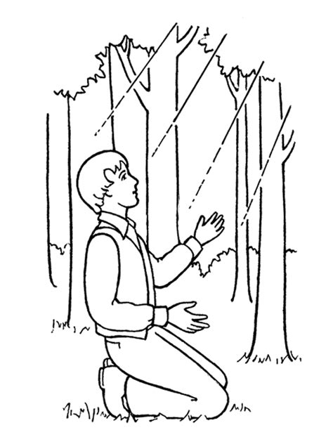 lds coloring pages joseph smith joseph smith sees a light overhead