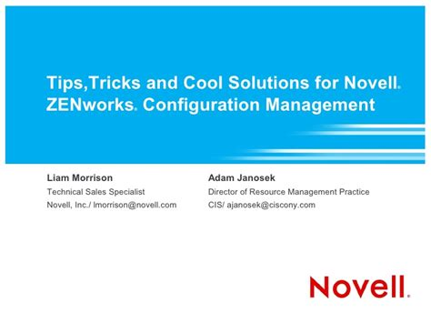 tips and solution tips tricks and cool solutions for novell zenworks