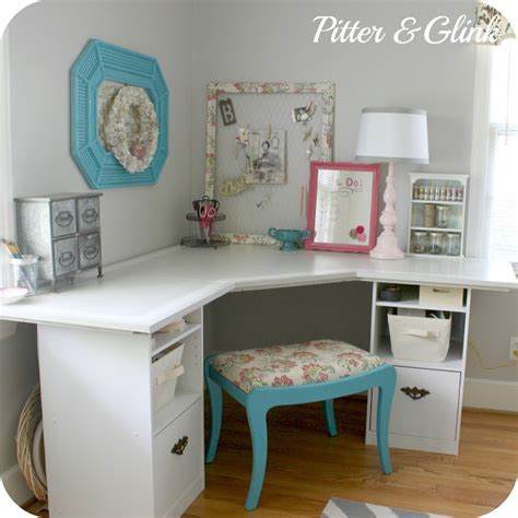 craft room desk pitterandglink craft room corner desk